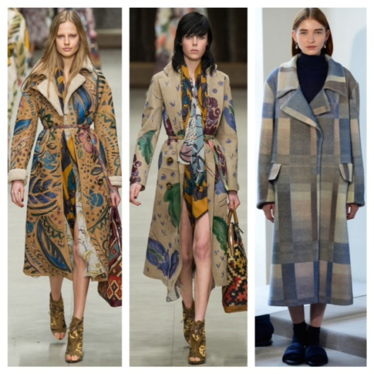 LFW Bold Print Coats Long