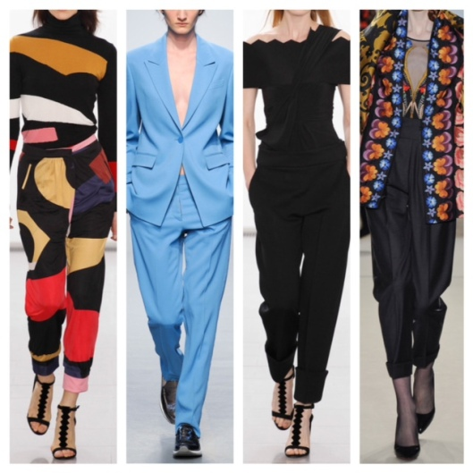 LFW Slouch Slim Trousers Collage