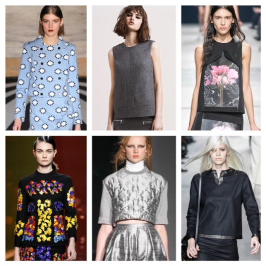 LFW14 BOXY top collage