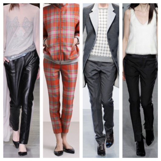 LFW14 Slim Trousers Collage