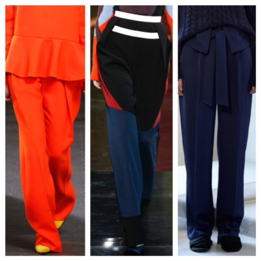 LFW14 Slouchy Trousers Collage