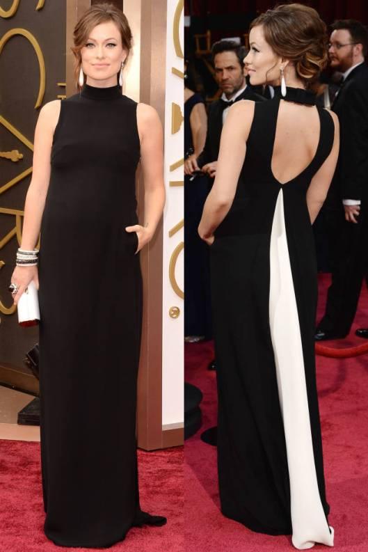 Oscars Olivia Wilde front back harpersbazaar